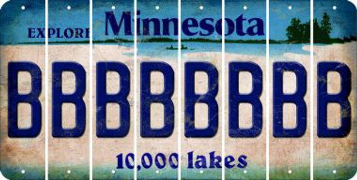Minnesota B Cut License Plate Strips (Set of 8) LPS-MN1-002