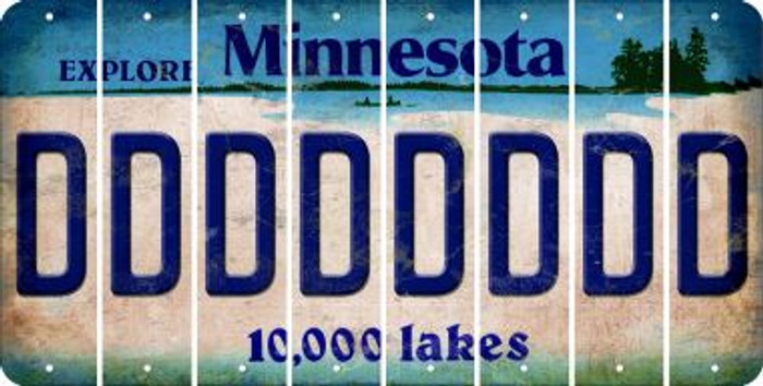 Minnesota D Cut License Plate Strips (Set of 8) LPS-MN1-004