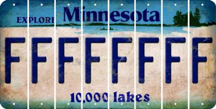 Minnesota F Cut License Plate Strips (Set of 8) LPS-MN1-006