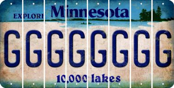 Minnesota G Cut License Plate Strips (Set of 8) LPS-MN1-007