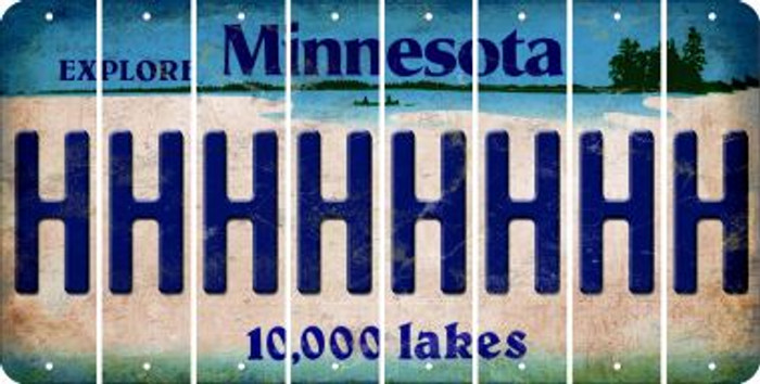 Minnesota H Cut License Plate Strips (Set of 8) LPS-MN1-008