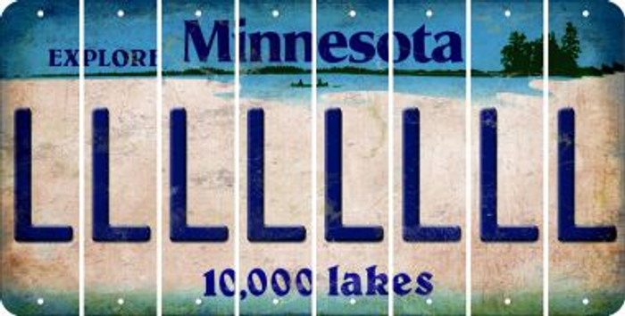 Minnesota L Cut License Plate Strips (Set of 8) LPS-MN1-012