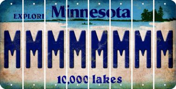 Minnesota M Cut License Plate Strips (Set of 8) LPS-MN1-013