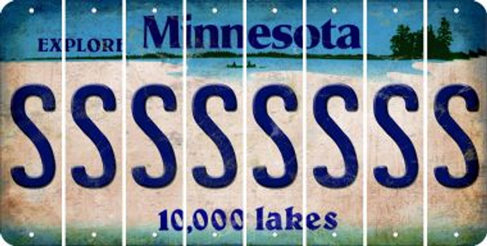 Minnesota S Cut License Plate Strips (Set of 8) LPS-MN1-019
