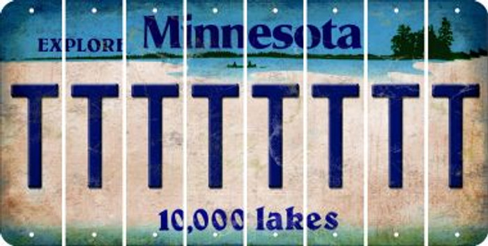 Minnesota T Cut License Plate Strips (Set of 8) LPS-MN1-020