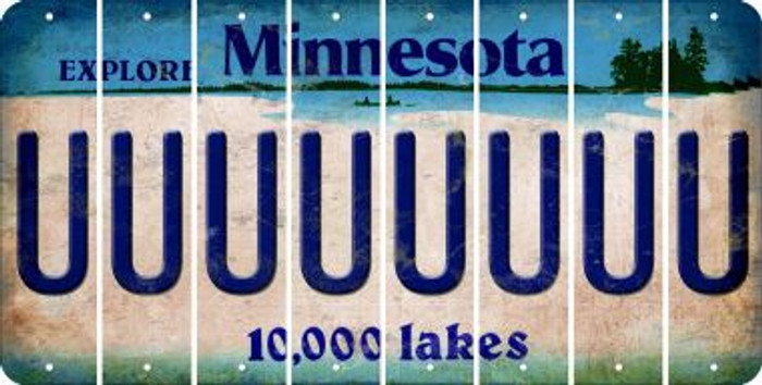 Minnesota U Cut License Plate Strips (Set of 8) LPS-MN1-021