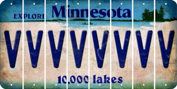 Minnesota V Cut License Plate Strips (Set of 8) LPS-MN1-022