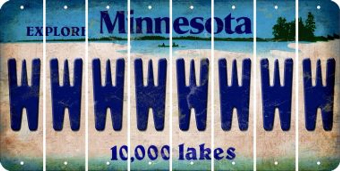 Minnesota W Cut License Plate Strips (Set of 8) LPS-MN1-023