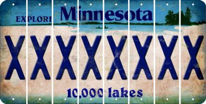 Minnesota X Cut License Plate Strips (Set of 8) LPS-MN1-024