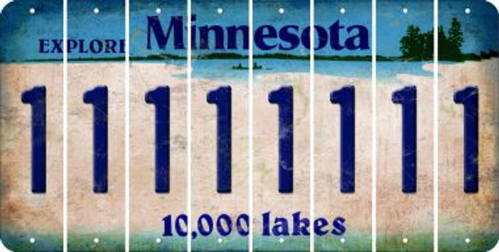 Minnesota 1 Cut License Plate Strips (Set of 8) LPS-MN1-028