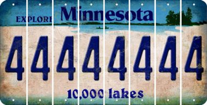 Minnesota 4 Cut License Plate Strips (Set of 8) LPS-MN1-031