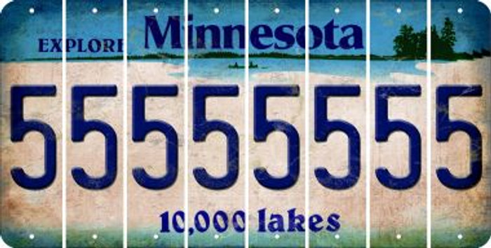 Minnesota 5 Cut License Plate Strips (Set of 8) LPS-MN1-032