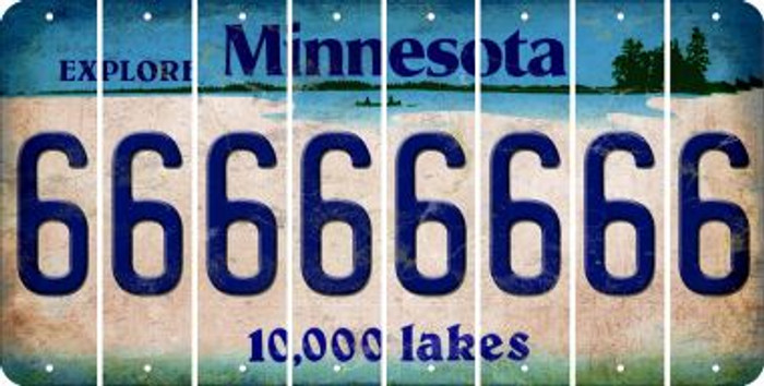 Minnesota 6 Cut License Plate Strips (Set of 8) LPS-MN1-033