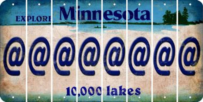 Minnesota ASPERAND Cut License Plate Strips (Set of 8) LPS-MN1-039