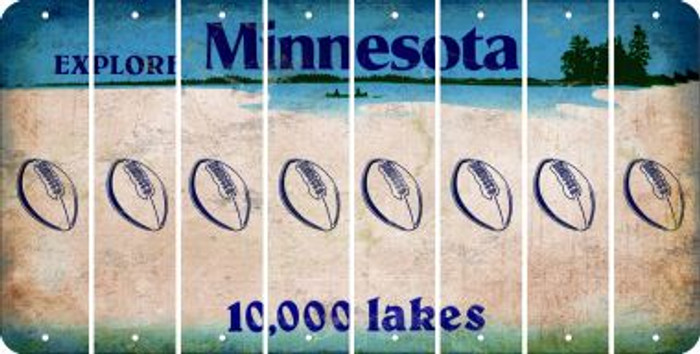 Minnesota FOOTBALL Cut License Plate Strips (Set of 8) LPS-MN1-060