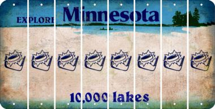 Minnesota HOCKEY Cut License Plate Strips (Set of 8) LPS-MN1-062