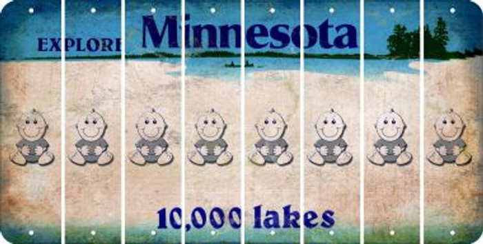 Minnesota BABY BOY Cut License Plate Strips (Set of 8) LPS-MN1-066