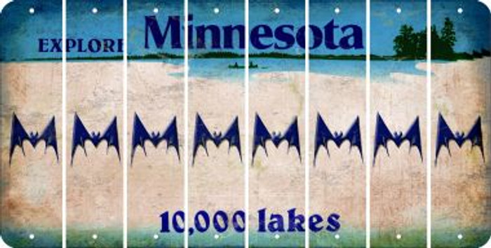 Minnesota BAT Cut License Plate Strips (Set of 8) LPS-MN1-074