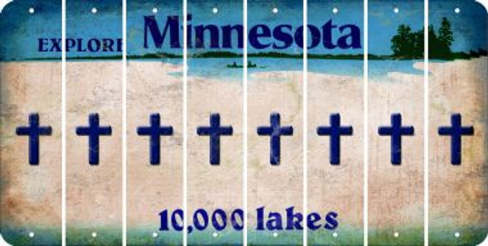 Minnesota CROSS Cut License Plate Strips (Set of 8) LPS-MN1-083