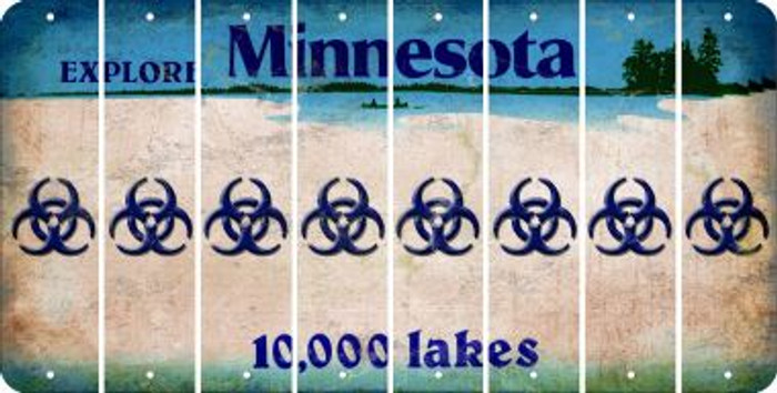 Minnesota BIO HAZARD Cut License Plate Strips (Set of 8) LPS-MN1-084