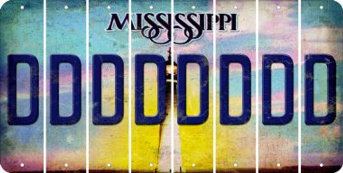 Mississippi D Cut License Plate Strips (Set of 8) LPS-MS1-004