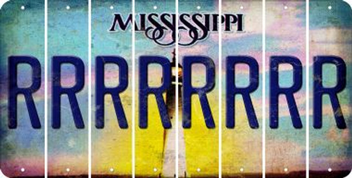Mississippi R Cut License Plate Strips (Set of 8) LPS-MS1-018