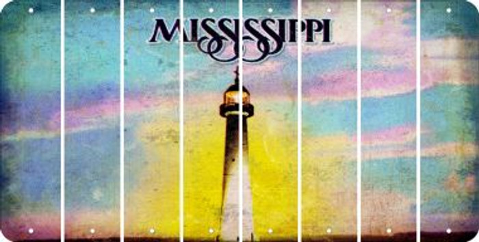 Mississippi BLANK Cut License Plate Strips (Set of 8) LPS-MS1-037