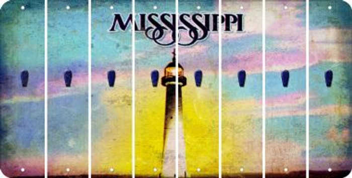 Mississippi APOSTROPHE Cut License Plate Strips (Set of 8) LPS-MS1-038