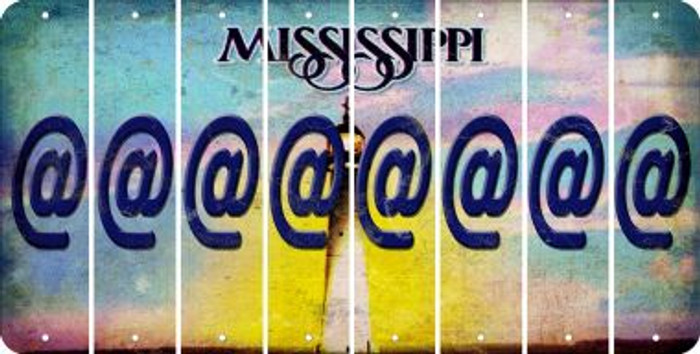 Mississippi ASPERAND Cut License Plate Strips (Set of 8) LPS-MS1-039