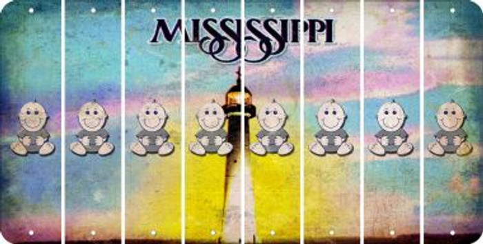 Mississippi BABY BOY Cut License Plate Strips (Set of 8) LPS-MS1-066