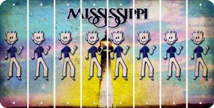 Mississippi DAD Cut License Plate Strips (Set of 8) LPS-MS1-071