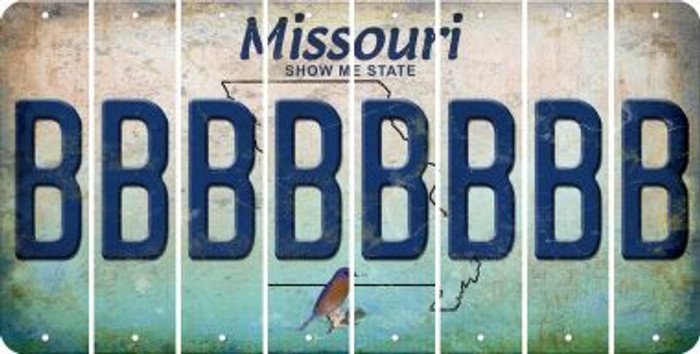 Missouri B Cut License Plate Strips (Set of 8) LPS-MO1-002