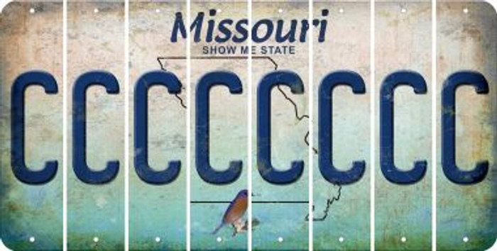 Missouri C Cut License Plate Strips (Set of 8) LPS-MO1-003