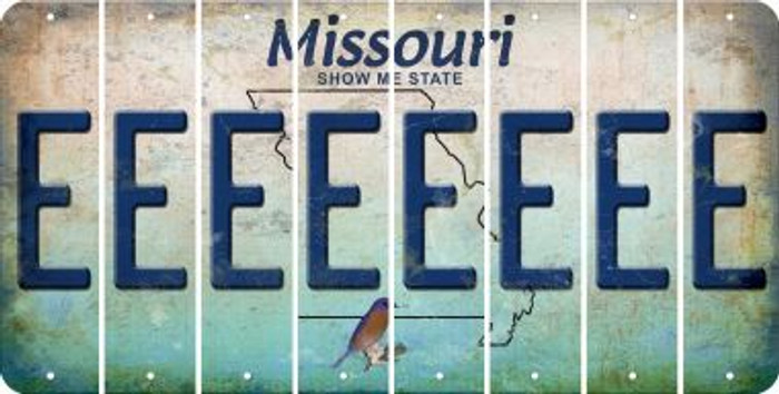 Missouri E Cut License Plate Strips (Set of 8) LPS-MO1-005
