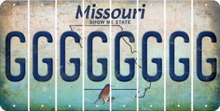 Missouri G Cut License Plate Strips (Set of 8) LPS-MO1-007