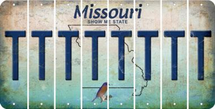Missouri T Cut License Plate Strips (Set of 8) LPS-MO1-020