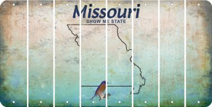 Missouri BLANK Cut License Plate Strips (Set of 8) LPS-MO1-037
