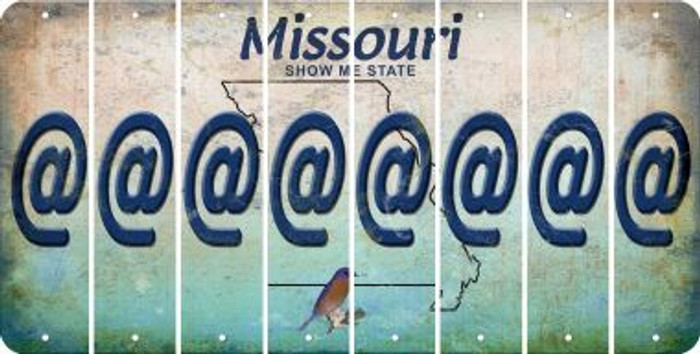 Missouri ASPERAND Cut License Plate Strips (Set of 8) LPS-MO1-039