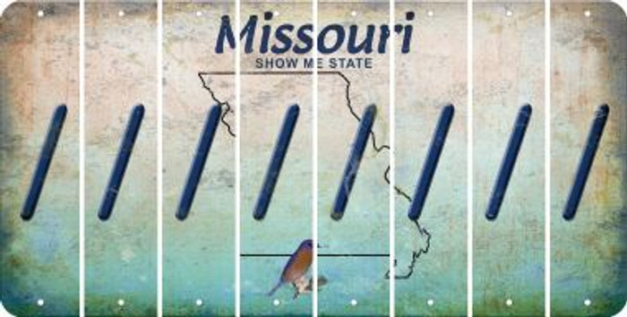 Missouri FORWARD SLASH Cut License Plate Strips (Set of 8) LPS-MO1-042