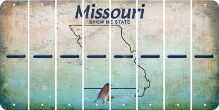 Missouri HYPHEN Cut License Plate Strips (Set of 8) LPS-MO1-044