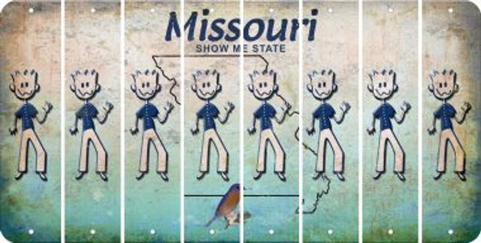 Missouri DAD Cut License Plate Strips (Set of 8) LPS-MO1-071