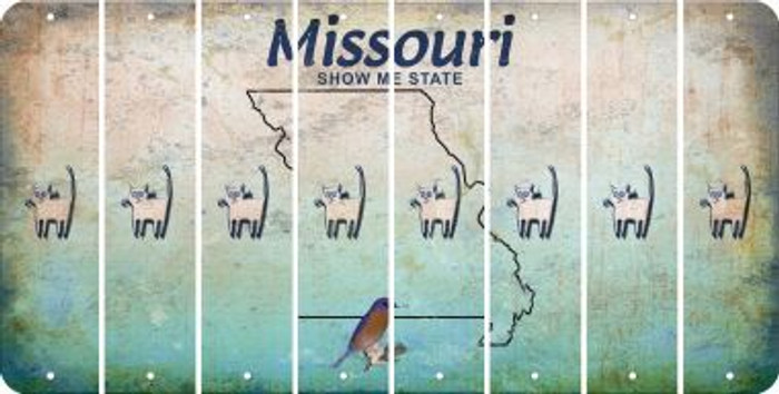 Missouri CAT Cut License Plate Strips (Set of 8) LPS-MO1-072