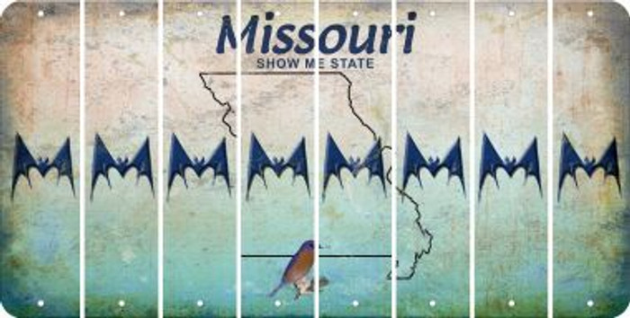 Missouri BAT Cut License Plate Strips (Set of 8) LPS-MO1-074