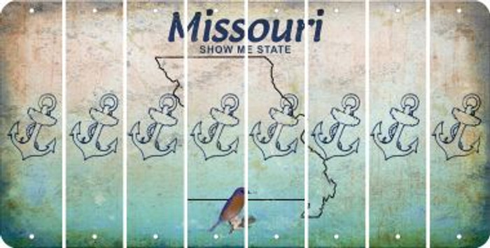 Missouri ANCHOR Cut License Plate Strips (Set of 8) LPS-MO1-093