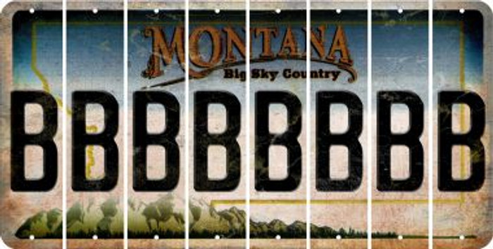 Montana B Cut License Plate Strips (Set of 8) LPS-MT1-002