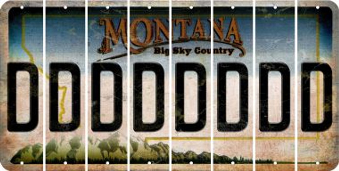 Montana D Cut License Plate Strips (Set of 8) LPS-MT1-004