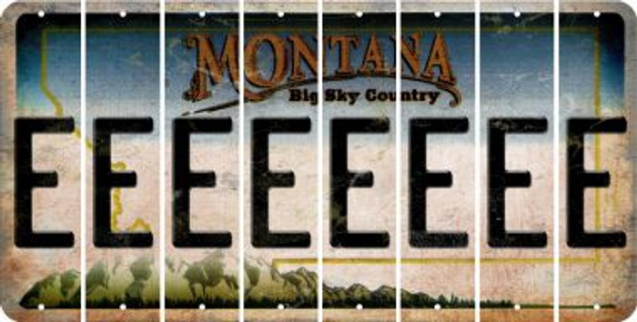 Montana E Cut License Plate Strips (Set of 8) LPS-MT1-005