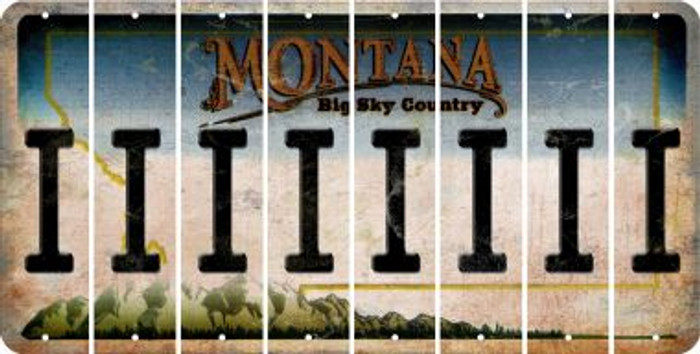 Montana I Cut License Plate Strips (Set of 8) LPS-MT1-009