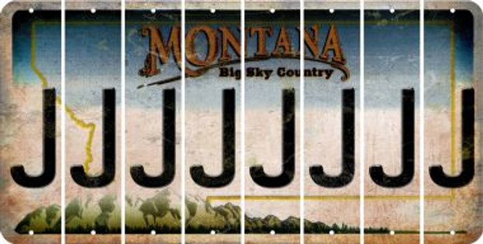 Montana J Cut License Plate Strips (Set of 8) LPS-MT1-010