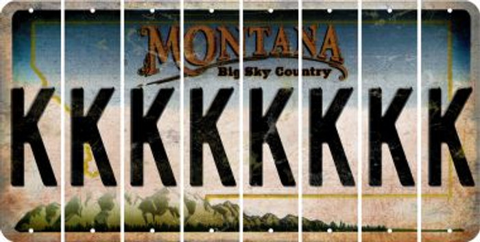Montana K Cut License Plate Strips (Set of 8) LPS-MT1-011